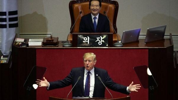 Golf: Trump loda giocatori Corea Sud