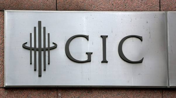 FILE PHOTO: The logo for Singapore sovereign wealth fund GIC Pte Ltd, is seen on a building in Singapore July 6, 2017. REUTERS/Darren Whiteside/File Photo