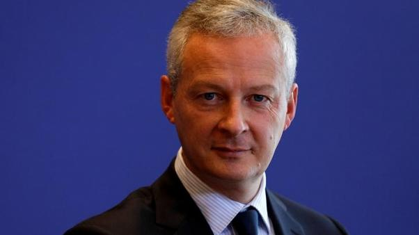 French Finance Minister Bruno Le Maire attends a news conference on a report on French economy at the Bercy Finance ministry in Paris, France, September 14, 2017.  REUTERS/Philippe Wojazer