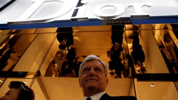 Christian Dior Chief Executive Sidney Toledano stands in front of Dior's new flagship store in Tokyo, Japan, April 19, 2017.      REUTERS/Toru Hanai