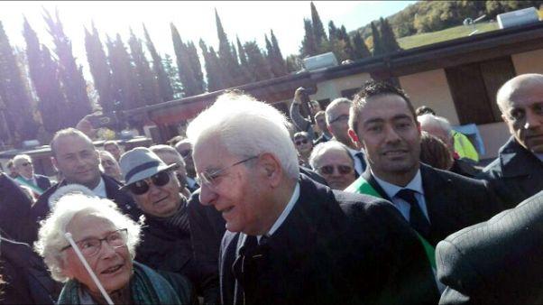"""Mattarella a sindaco, """"io ci sono"""""""