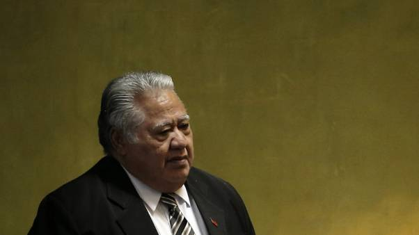 Prime Minister Tuilaepa Sailele Malielegaoi of Samoa arrives to address the 71st United Nations General Assembly in the Manhattan borough of New York, U.S., September 23, 2016.  REUTERS/Mike Segar