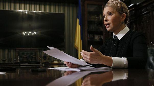 Ukrainian opposition leader Yulia Tymoshenko speaks during an interview with Reuters in Kiev, Ukraine November 8, 2017. REUTERS/Valentyn Ogirenko