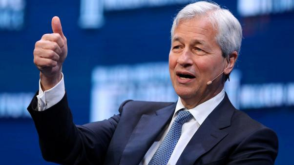 JPMorgan chief holds private talks with May