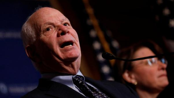 FILE PHOTO: Senator Ben Cardin (D-MD) speaks at a press conference on the need for increased government transparency at the Capitol in Washington, D.C., U.S. March 15, 2017.  REUTERS/Aaron P. Bernstein