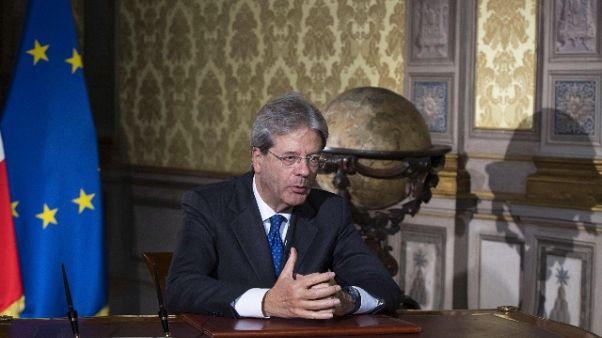 Gentiloni, Italia affidabile per alleati