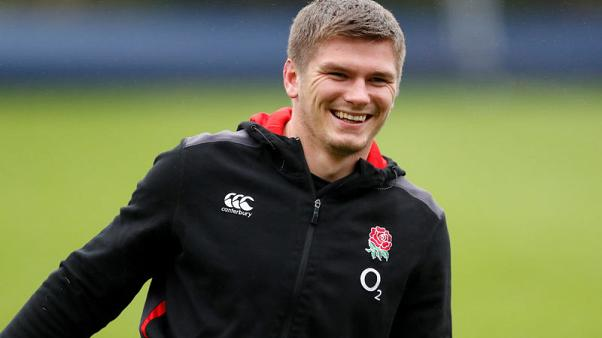 Rugby Union - England Training - Pennyhill Park, Bagshot, Britain - November 7, 2017   England's Owen Farrell during training   Action Images via Reuters/Andrew Boyers