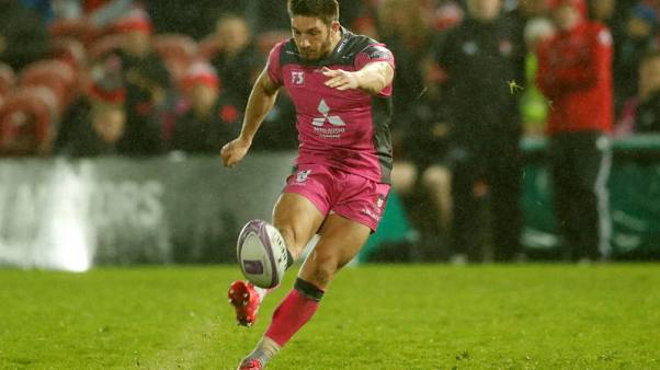 Rugby Union - European Challenge Cup - Gloucester Rugby vs Agen - Kingsholm Stadium, Gloucester, Britain - October 19, 2017   Gloucester's Owen Williams kicks a conversion    Action Images via Reuters/Andrew Boyers