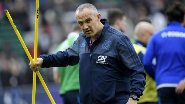 Britain Rugby Union - England v Italy - Six Nations Championship - Twickenham Stadium, London - 26/2/17 Italy head coach Conor O'Shea during the warm up  before the game Reuters / Toby Melville Livepic EDITORIAL USE ONLY.