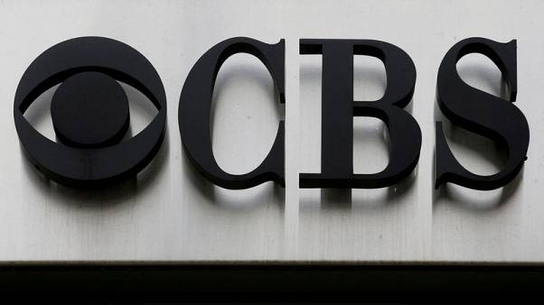 "FILE PHOTO: The CBS ""eye"" and logo are seen outside the CBS Broadcast Center on West 57th St. in Manhattan, New York, U.S., April 29, 2016.  REUTERS/Brendan McDermid/File Photo"