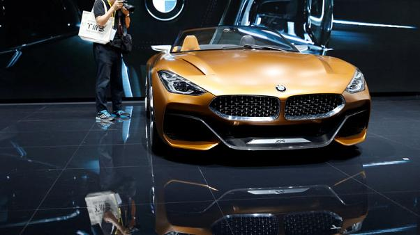A BMW Z4 concept car is displayed during media preview of the 45th Tokyo Motor Show in Tokyo, Japan October 25, 2017.  REUTERS/Toru Hanai