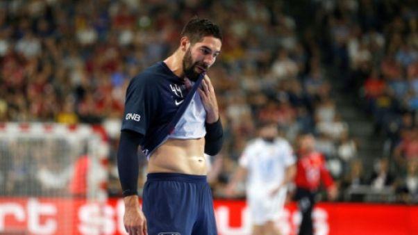 Le handballeur français Nikola Karabatic, le 4 juin 2017 lors d'un match entre le PSG et Vardar à Cologne