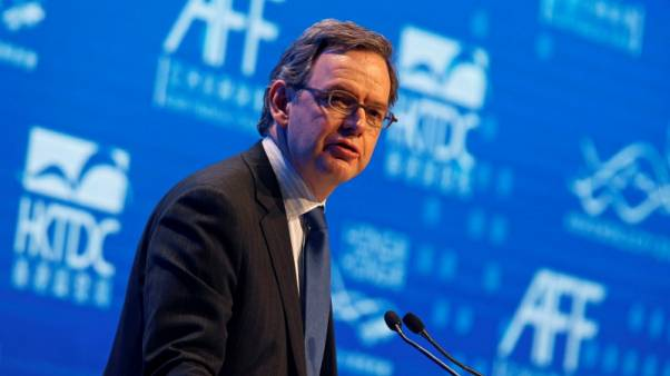 FILE PHOTO: Steven Maijoor, Chair of European Securities and Markets Authority, addresses the Asian Financial Forum in Hong Kong January 19, 2015. REUTERS/Bobby Yip/File Photo - RC167A71E2D0
