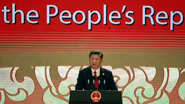 China's President Xi Jinping speaks on the final day of the APEC CEO Summit ahead of the Asia-Pacific Economic Cooperation (APEC) leaders summit in Danang, Vietnam, November 10, 2017. REUTERS/Nyein Chan Naing/Pool