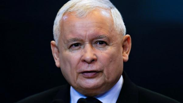 FILE PHOTO: Jaroslaw Kaczynski, the leader of the ruling Law and Justice Party (PiS), speaks at a news conference in Warsaw, Poland, May 15, 2017. REUTERS/Kacper Pempel/File Photo