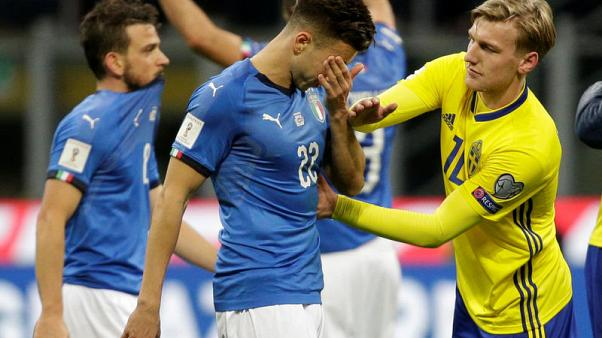 Stunned Italy fail to reach World Cup as Sweden qualify
