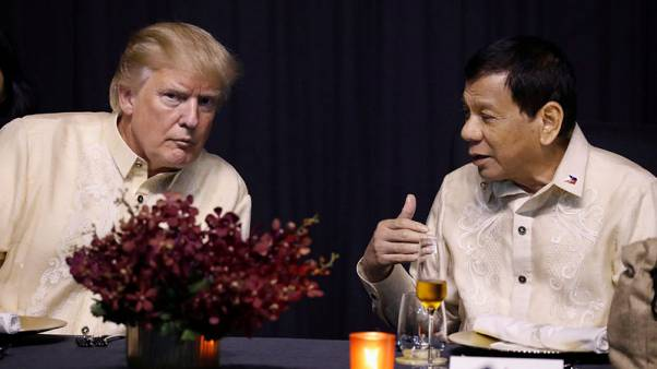 'You are the light' - Philippines' Duterte croons at Trump's request