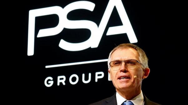FILE PHOTO - Carlos Tavares, Chairman of the Managing Board of French carmaker PSA Group addresses the media during the 87th International Motor Show at Palexpo in Geneva, Switzerland March 7, 2017. REUTERS/Arnd Wiegmann