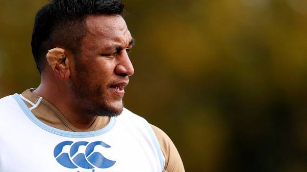 Rugby Union - England Training - Pennyhill Park, Bagshot, Britain - November 9, 2017   England's Mako Vunipola during training   Action Images via Reuters/Andrew Boyers