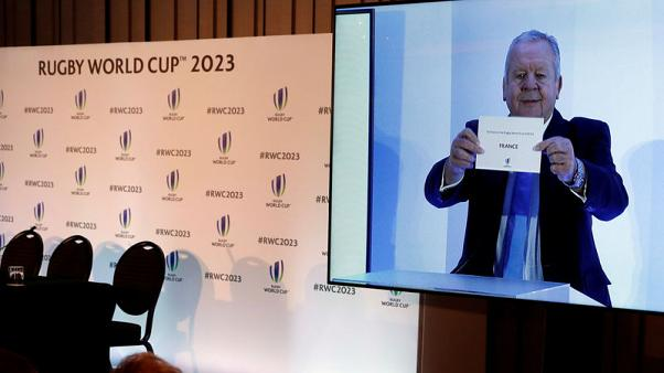 Rugby Union - Rugby World Cup 2023 Host Country Announcement - Royal Garden Hotel, London, Britain - November 15, 2017   France is announced by Bill Beaumont as the wining bid to host the 2023 Rugby World Cup    Action Images via Reuters/Paul Childs