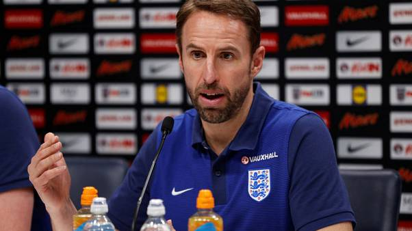 Soccer Football - England Press Conference - Tottenham Hotspur Training Ground, London, Britain - November 13, 2017   England manager Gareth Southgate during the press conference    Action Images via Reuters/John Sibley