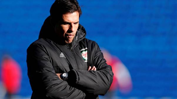 Soccer Football - Wales Training - Cardiff City Stadium, Cardiff, Britain - November 13, 2017. Wales manager Chris Coleman during training.  Action Images via Reuters/Matthew Childs