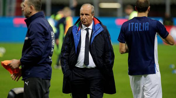 Soccer Football - 2018 World Cup Qualifications - Europe - Italy vs Sweden - San Siro, Milan, Italy - November 13, 2017   Italy coach Gian Piero Ventura before the match    REUTERS/Max Rossi