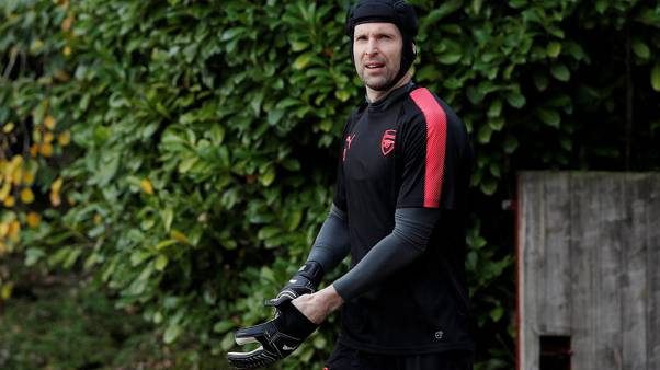 Soccer Football - Europa League - Arsenal Training - Arsenal Training Centre, St Albans, Britain - November 1, 2017   Arsenal's Petr Cech arrives for training   Action Images via Reuters/Andrew Couldridge