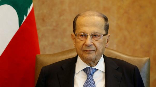 FILE PHOTO: Lebanese President Michel Aoun is seen at the presidential palace in Baabda, Lebanon, November 7, 2017. REUTERS/Mohamed Azakir/File Photo