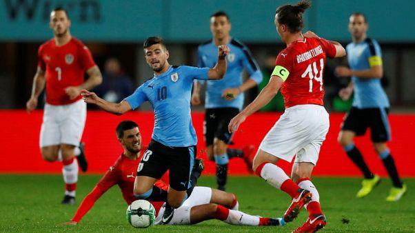 Misfiring Uruguay suffer shock defeat to Austria