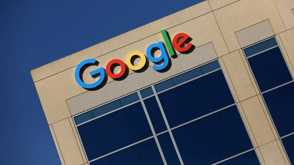 FILE PHOTO - The Google logo is pictured atop an office building in Irvine, California, U.S. August 7, 2017.   REUTERS/Mike Blake/File Photo