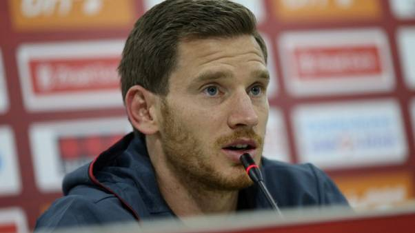 Soccer Football - 2018 World Cup Qualifications - Europe - Belgium Press Conference - Stadium Grbavica, Sarajevo, Bosnia and Herzegovina - October 6, 2017   Belgium's Jan Vertonghen during the press conference    REUTERS/Dado Ruvic