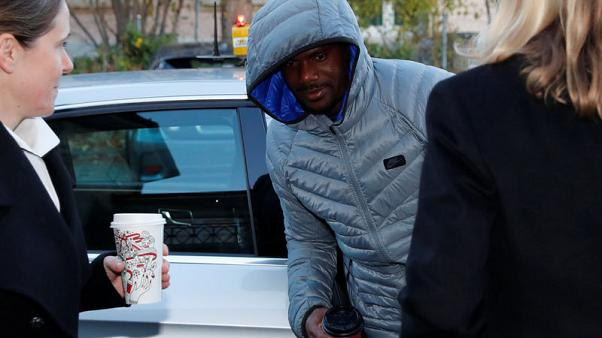 Jamaican sprinter Nesta Carter arrives for an appeal hearing at the Court of Arbitration for Sports (CAS) in Lausanne, Switzerland November 15, 2017. REUTERS/Denis Balibouse