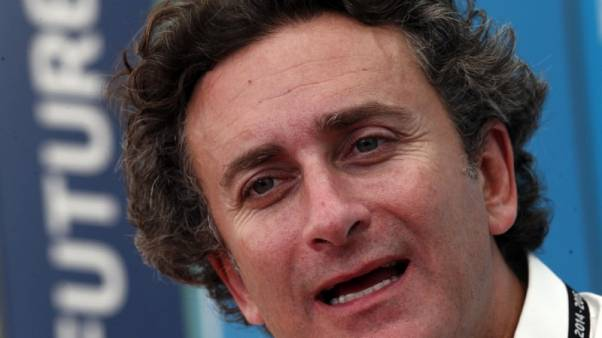 FILE PHOTO: Alejandro Agag, Formula E CEO, speaks during an interview with Reuters ahead of round four of the Formula E championship in Buenos Aires January 8, 2015.   REUTERS/Marcos Brindicci