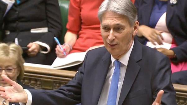Britain's Chancellor of the Exchequer Philip Hammond presents his budget in the House of Commons, London, November 22, 2017. Parliament TV handout via REUTERS