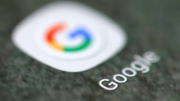 The Google app logo is seen on a smartphone in this picture illustration taken September 15, 2017. REUTERS/Dado Ruvic/Illustration