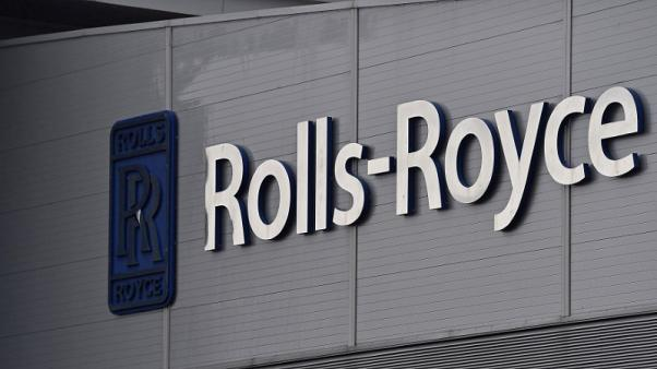 FILE PHOTO - A Rolls-Royce logo is seen at the company's aerospace engineering and development site in Bristol, Britain, December 17, 2015.  REUTERS/Toby Melville/File Photo
