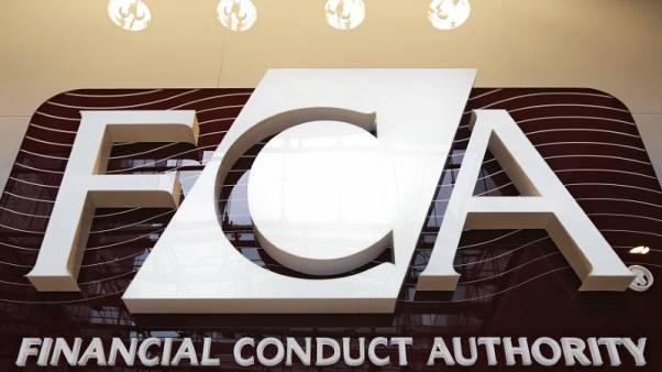FILEPHOTO - The logo of the new Financial Conduct Authority (FCA) is seen at the agency's headquarters in the Canary Wharf business district of London April 1, 2013. REUTERS/Chris Helgren