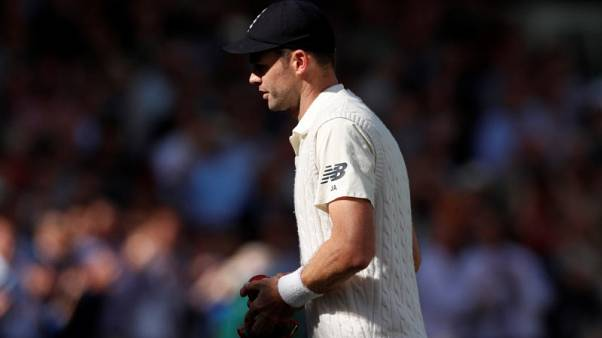 FILE PHOTO - Cricket - England vs West Indies - Third Test - London, Britain - September 9, 2017   England's James Anderson after the match   Action Images via Reuters/Andrew Boyers