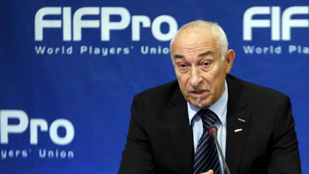Philippe Piat, President of FIFPro, the world soccer players' union, addresses a news conference in Brussels, Belgium, September 18, 2015.   REUTERS/Francois Lenoir