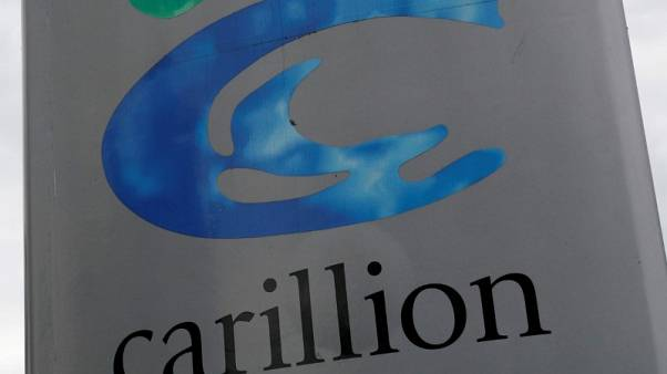 FILE PHOTO: A Carillion sign is seen in Manchester, Britain July 13, 2017.  REUTERS/Phil Noble/File Photo