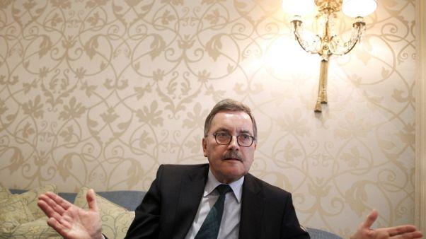 Former chief economist of European Central Bank (ECB) Juergen Stark gestures as he speaks during an interview with Reuters in Frankfurt October 22, 2012. Picture taken October 22, 2012.  REUTERS/Lisi Niesner