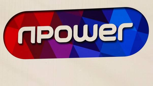 A sign hangs outside the building of electricity provider npower in Solihull, Britain, March 7, 2016. REUTERS/Darren Staples/File Photo