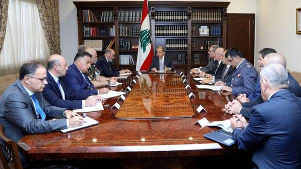 Lebanese President Michel Aoun holds a meeting with ministers and security officials at the presidential palace in Baabda, Lebanon, November 6, 2017. Dalati Nohra/Handout via REUTERS