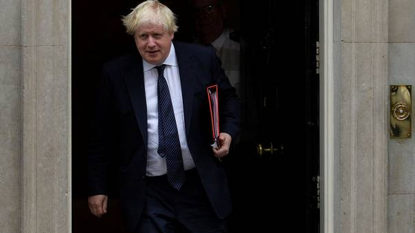 FILE PHOTO - Britain's Foreign Secretary Boris Johnson leaves 10 Downing Street, London, Britain, October 24 2017. REUTERS/Mary Turner
