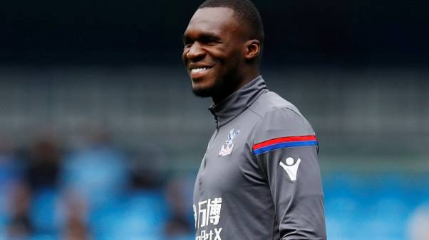 Soccer Football - Premier League - Manchester City vs Crystal Palace - Etihad Stadium, Manchester, Britain - September 23, 2017   Crystal Palace's Christian Benteke warms up before the match   REUTERS/Phil Noble