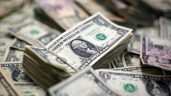 رزم من الدولار الأمريكي في فيينا يوم 16 نوفمبر تشرين الثاني 2017. تصوير: لينواه فوجر - رويترز