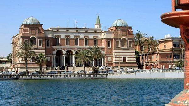 مصرف ليبيا المركزي في طرابلس في صورة من أرشيف رويترز.