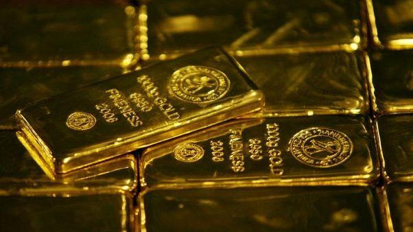 صورة من أرشيف رويترز لسبائك ذهبية في فيينا.