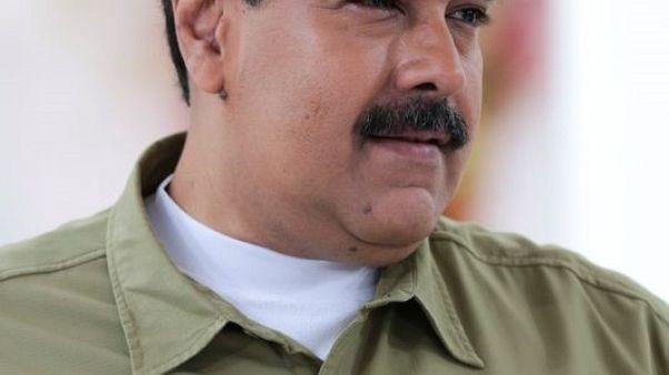 الرئيس الفنزويلي نيكولاس مادورو يتحدث في كراكاس يوم 12 نوفمبر تشرين الثاني 2017. صورة لرويترز من الرئاسة الفنزويلية.